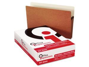 """Office Impressions 5 1/4"""" Straight Expansion File Pockets, Redrope Legal, 10 ct."""