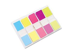 Post-it-Flags in Portable Dispenser-5 Bright Colors - 5 Dispensers of 20 Flags per Color