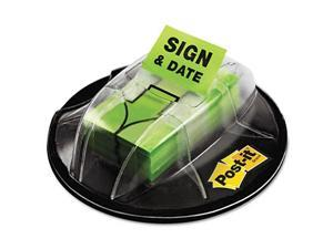 Post-it-Flags in Dispenser Sign Date Bright Green - 200 Flags-Dispenser