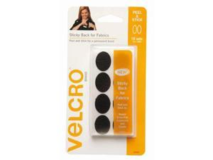 """Velcro 1"""" x 3/4"""" Ovals, 16 Sets, Black, English Only"""