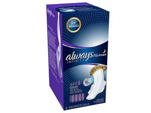 Always Infinity with Flex Foam Extra Heavy Overnight Pads with Flexi-Wings 24 ea
