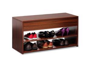 Furinno FNAJ-11046 Boyate Shoe Storage Hallway Bench, Walnut