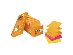 "Post-it Pop-up Super Sticky Notes, 3"" x 3"" Refill, Rio de Janeiro Colors, 90 Sheets/Pad, 8 pk."