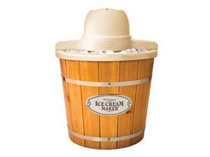 Nostalgia Vintage Collection Wood Bucket Ice Cream Maker,4-Quart