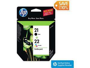 HP 21 Black/22 Tri-color Original Ink Cartridges, 2 pack C9509FN