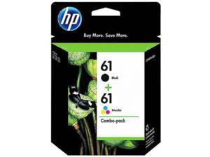 HP 61 Black/Tri-color Original Ink Cartridges, 2 pack CR259FN