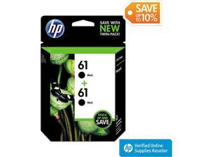 HP 61 Black Original Ink Cartridges, Twin Pack CZ073FN