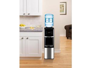 Primo Top-Load Water Dispenser, Stainless Steel/Black
