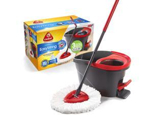O-Cedar Easy Wring Spin Mop & Bucket System with 3 Extra Refills