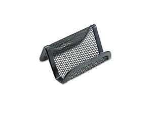 Rolodex Mesh Business Card Holder, Capacity 50 2 1/4 x 4 Cards, Black Packs of 2