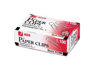 ACCO - Paper Clips, #1 Size, Smooth, 100 Count - 10 Pack   Packs of 4
