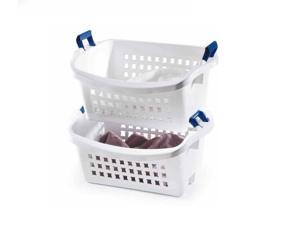 Rubbermaid 1.6 BU Stack-n-Sort Laundry Basket, White