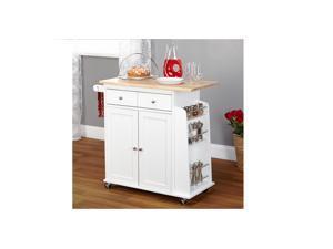 Simple Living White Sonoma Kitchen Cart