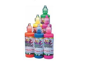 Color Splash! Neon Fabric Paint, 4 oz, Set of 6