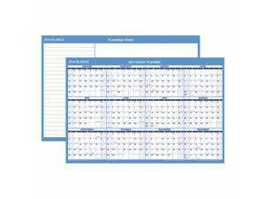 "At-A-Glance 2017 Horizontal Erasable Wall Planner, Blue and White, 36"" x 24"""