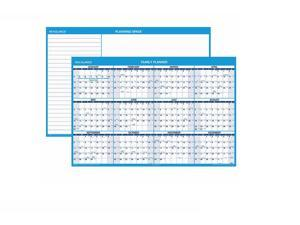 "At-A-Glance 2017 Horizontal Erasable Wall Planner, Blue and White, 48""x32"""