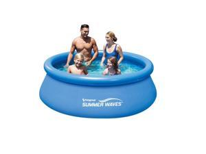 """Summer Waves 8' x 30"""" Quick Set Round Above Ground Swimming Pool with Filter Pump System"""