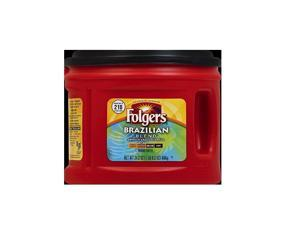 Folgers Brazilian Blend Medium Roast Ground Coffee (24.2 oz. canister) pack of 2