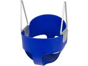 Swing Set Stuff Highback Full Bucket Swing Seat With Chains and Hooks (Blue) SSS Logo Sticker