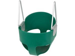 Swing Set Stuff Highback Full Bucket Swing Seat With Chains And Hooks (Green) SSS Logo Sticker