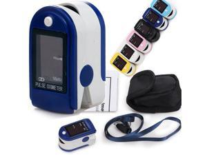 CONTEC CMS50DL Pulse Oximeter Fingertip Blood Oxygen Monitor - SpO2 Probe and Processing Display Module - Dark Blue