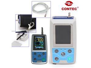 USA!!CONTEC Hand-held ABPM50,Ambulatory Blood Pressure Monitor, adult bp Cuff,PC software,pulse oximeter LED free gift