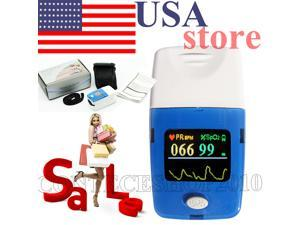 CONTEC CMS50C oled Fingertip Pulse Oximeter,SPO2 heart rate Monitor,Blood Oxygen,+Case, USA warehouse