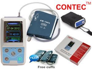 CONTEC Hand-held ABPM50,Ambulatory Blood Pressure Monitor/Patient Monitor,NIBP+PR+USB+SOFTWARE+3 Cuffs.USA Warehouse Delivery