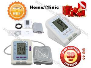 USA seller.CONTEC08C automatic Digital LCD Blood Pressure Monior upper arm+Adult BP Cuff+USB PC Software,CE/FDA approved,2-6 days arrival consumption, CE/FDA