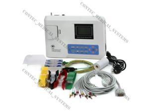 USA!!ECG100G digital portable single channel 12-lead ECG EKG machine,electrocardiograph,FDA approved,CONTEC,ship from illinois