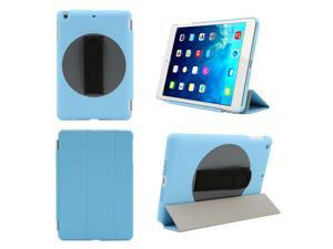 Tablet cases PU Leather Magnetic Smart Cover + 360 Degree Rotatable Back Case with Adjustable Neoprene Handle for Apple iPad Mini1/2/3 + Stylus + Screen Protector + Cleaning Cloth