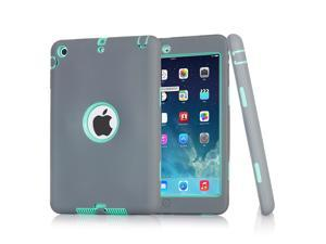 3 Layers Hybrid Shockproof Case with Stylus and Screen Protector for Apple iPad 2/3/4/5/6 iPad mini 1/2/3/4 iPad Air 1 Air 2
