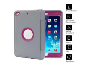 TKOOFN iPad Case for iPad mini 1/2/3/4 iPad Air 2 iPad 2/3/4 Extreme Heavy Duty Full Body Rugged Hybrid Protective with PU Leather Smart Case Magnetic Cover with Sleep / Wake Feature