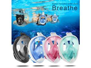 AMT Snorkel Mask Easy Breath Full Face Snorkeling Diving Water Sports For GoPro