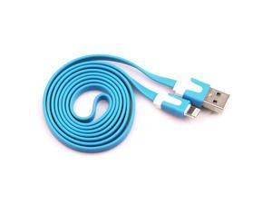 8 Pin USB Noodle Data Sync Charger Cable Cord For iPhone 5 5s 5c ipod touch Nano