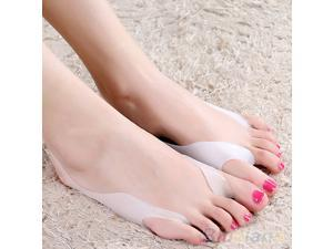 2 Pcs Silicone Hallux Valgus Bunion Relief Footcare Toe Separators Straightener