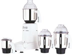 Preethi Eco Plus 4 Jar 550-Watt Mixer Grinder, 110 Volts