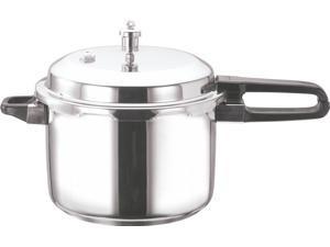 Vinod Stainless Steel Sandwich Bottom Pressure Cooker, 10-Liter