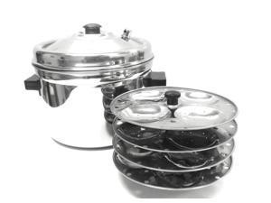 Tabakh 4-Plates Racks Stainless Steel Idly Cooker, 16 Idlis