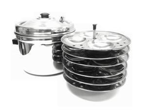 Tabakh 6-Plates Racks Stainless Steel Idly Cooker, 24 Idlis