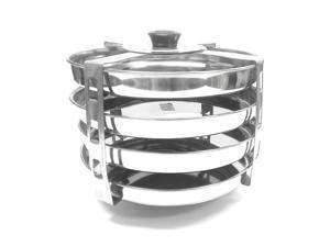 Tabakh 4-Plates Racks Dhokla Stand, Stainless Steel