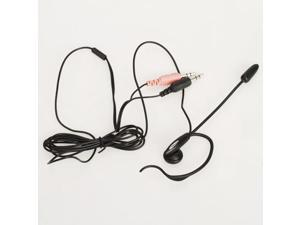 3.5mm Earphone Headphone Headset Microphone with Clip for PC Computer MSN Skype