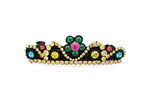 Glamorousky High Quality Charming Flower Crown Barrette with Multi-colour Swarovski Element Crystals