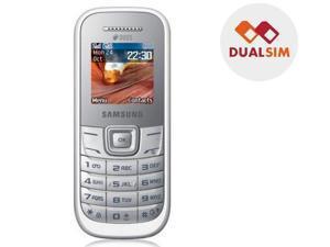 SAMSUNG GT E1202 - white - dual SIM mobile phone