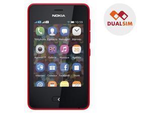 NOKIA Asha 501 - red - Dual SIM smartphone