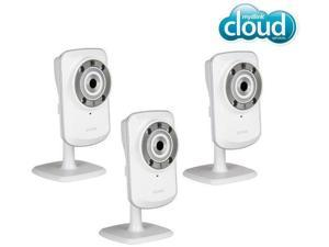 D-LINK Pack of Three DCS-932L mydlink Wireless-N Network Cameras with night vision
