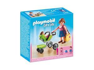 PLAYMOBIL City Life - Mother with infant stroller - 5491