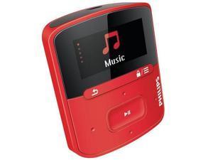 PHILIPS GoGear RaGa MP3 player - 4 GB, red