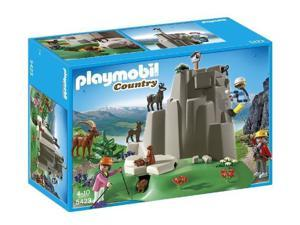 PLAYMOBIL Country - Mountain Life - Rock Climbers with Mountain Animals - 5423