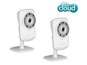 D-LINK Pack of Two DCS-932L mydlink Wireless-N Network Cameras with night vision